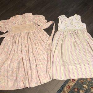 Vintage homemade smocked dresses 7/8